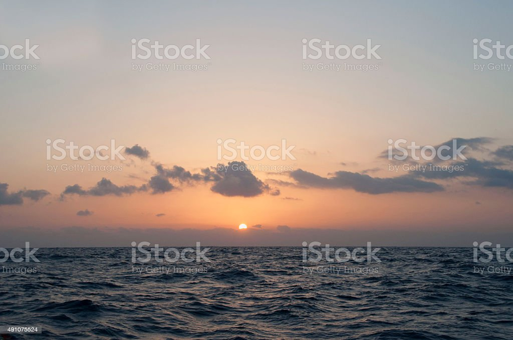 Sunrise over the Atlantic Ocean royalty-free stock photo