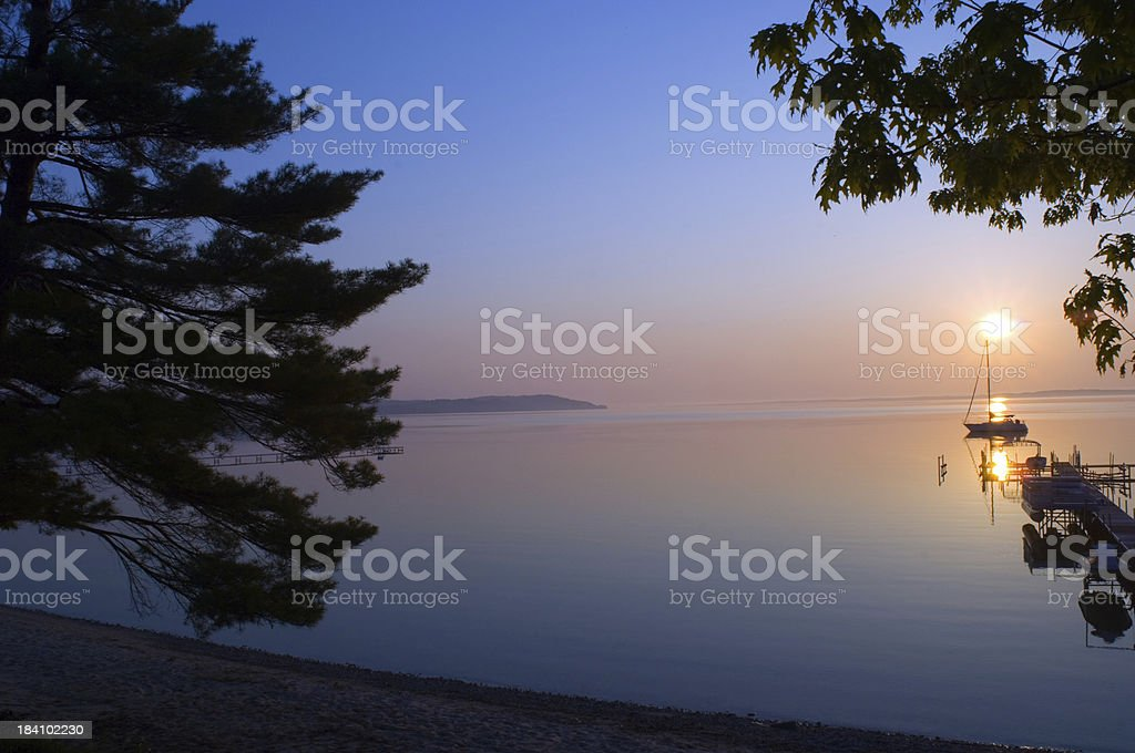 Sunrise over the bay royalty-free stock photo