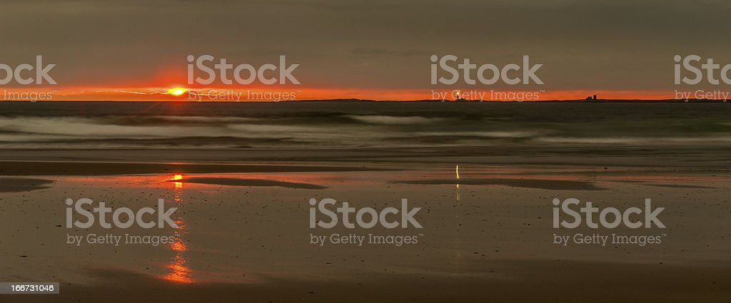 Sunrise over the Farne Islands royalty-free stock photo