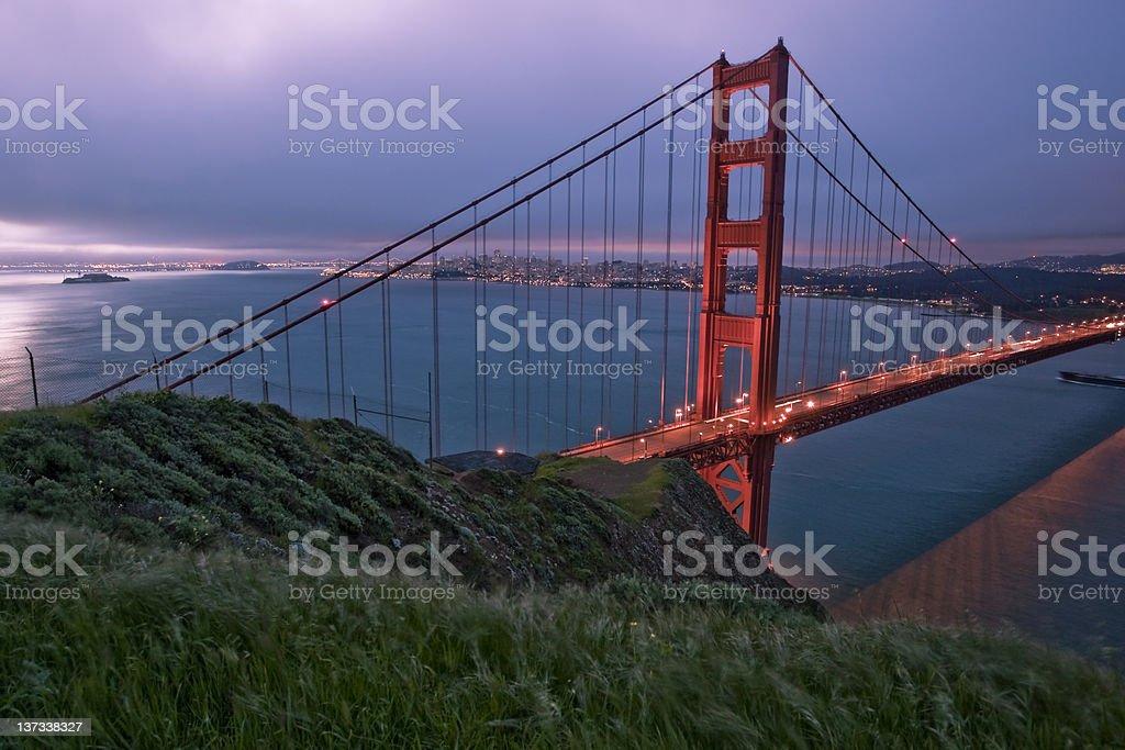Sunrise over the Golden Gate Bridge royalty-free stock photo