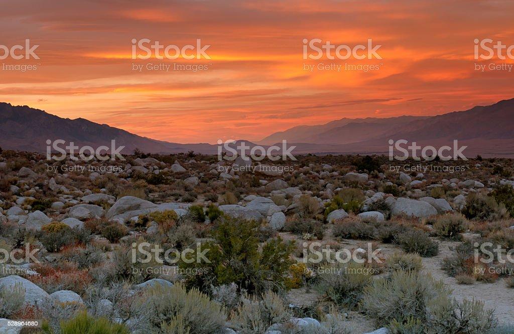 Sunrise Over The High Desert stock photo