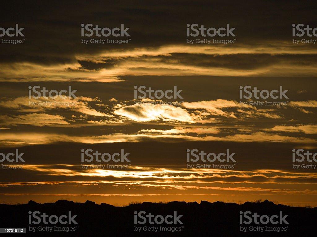 Sunrise over the hogbacks, Boulder County stock photo