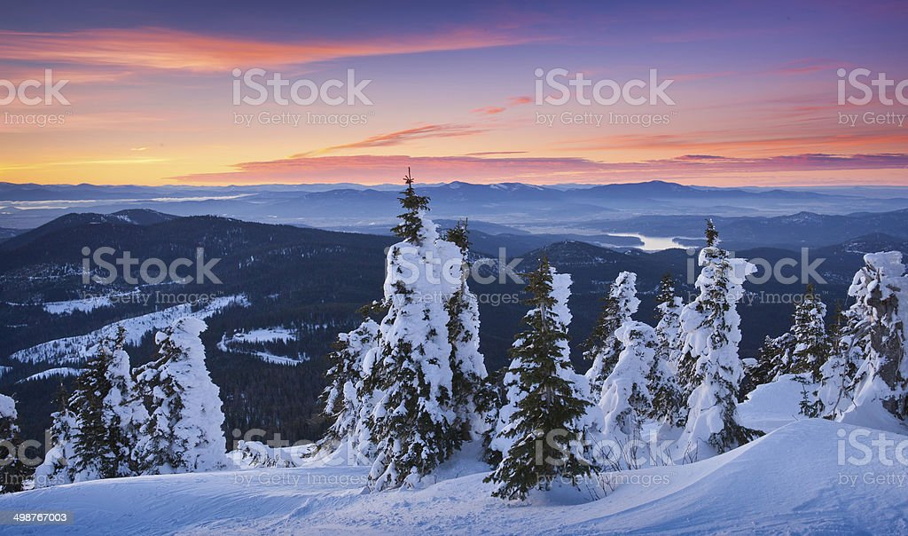 Sunrise over the Inland Northwest stock photo