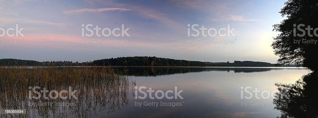 Sunrise over the lake. royalty-free stock photo