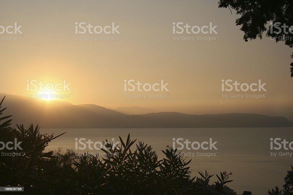 Sunrise over the lake royalty-free stock photo