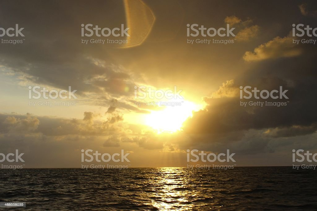 Sunrise over the Red Sea in Djibouti royalty-free stock photo