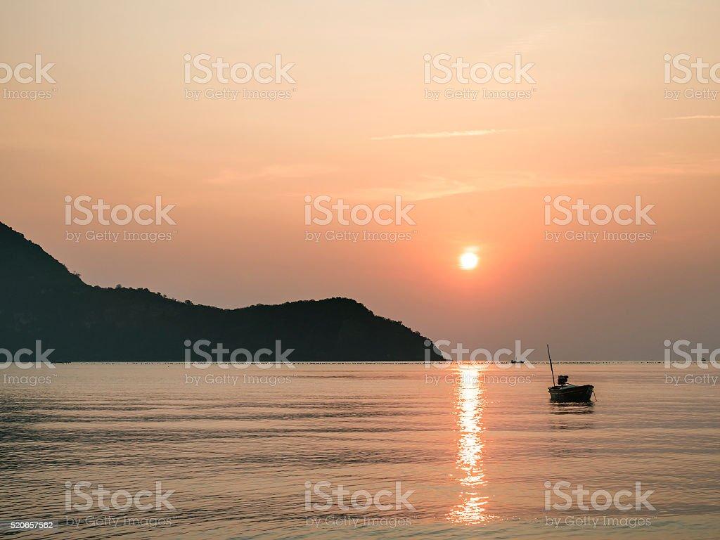 Sunrise over the sea 2 stock photo