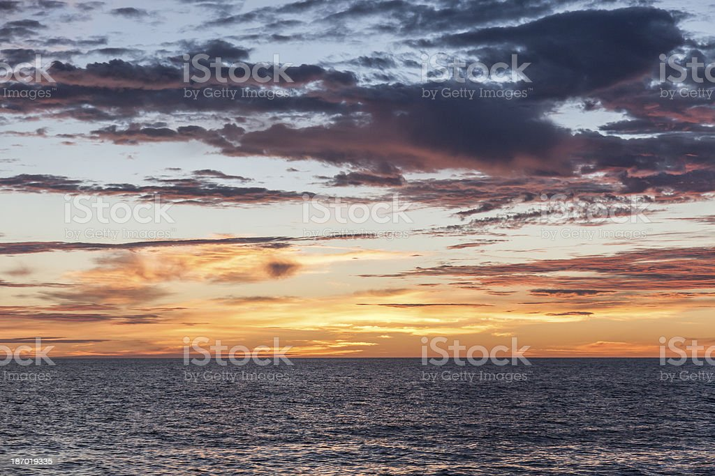 Sunrise over the Sea of Cortez, Mexico royalty-free stock photo