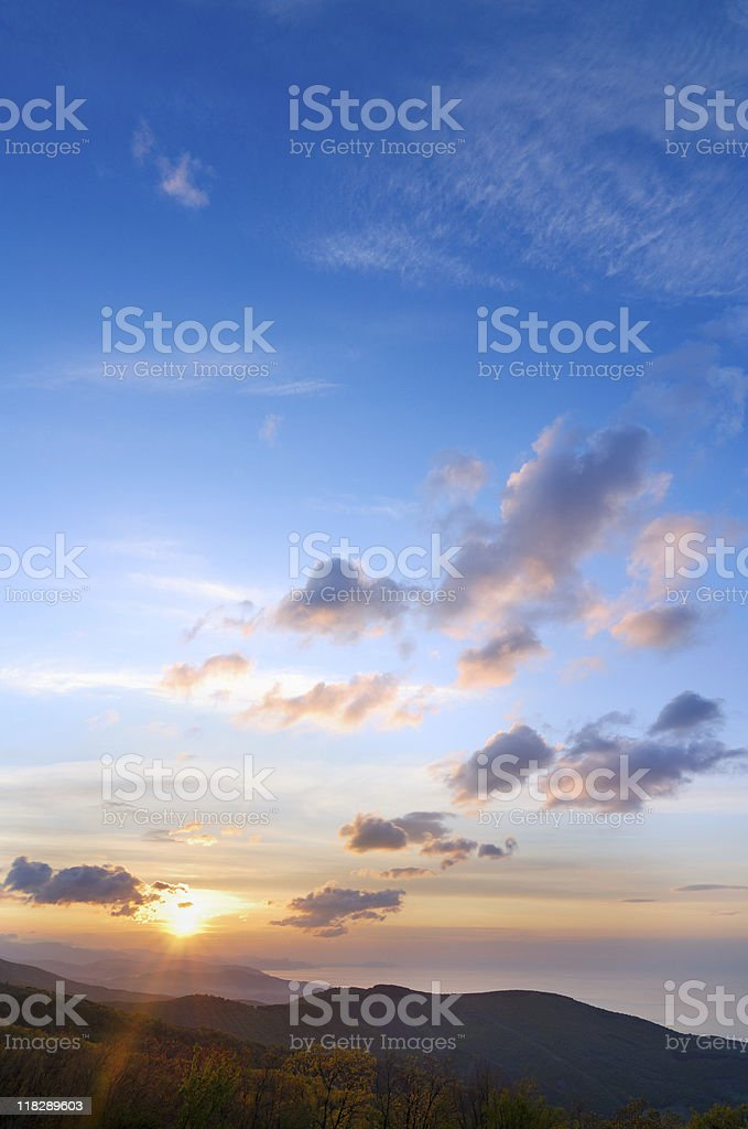 Sunrise over the sea royalty-free stock photo