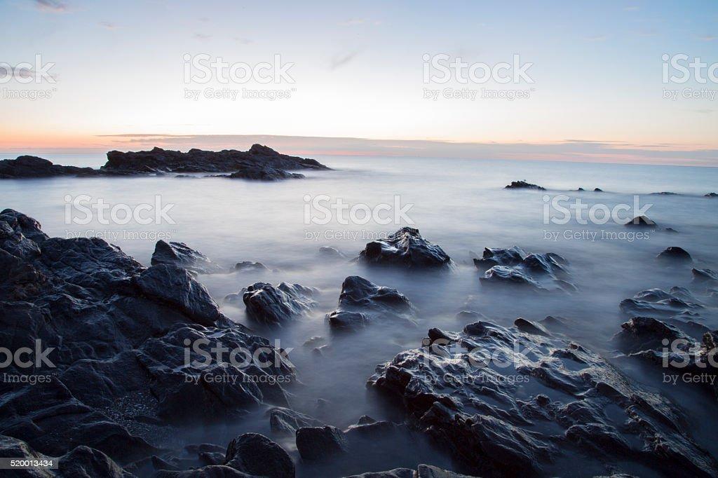 Sunrise over the sea. stock photo