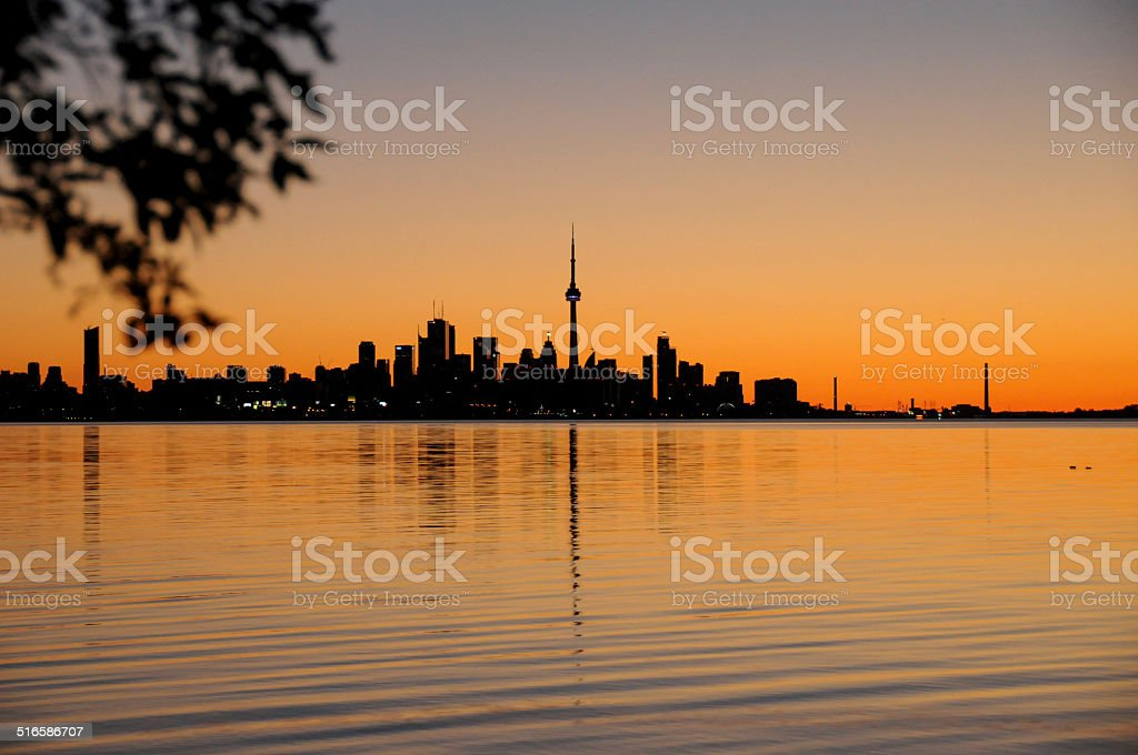 Sunrise over Toronto stock photo