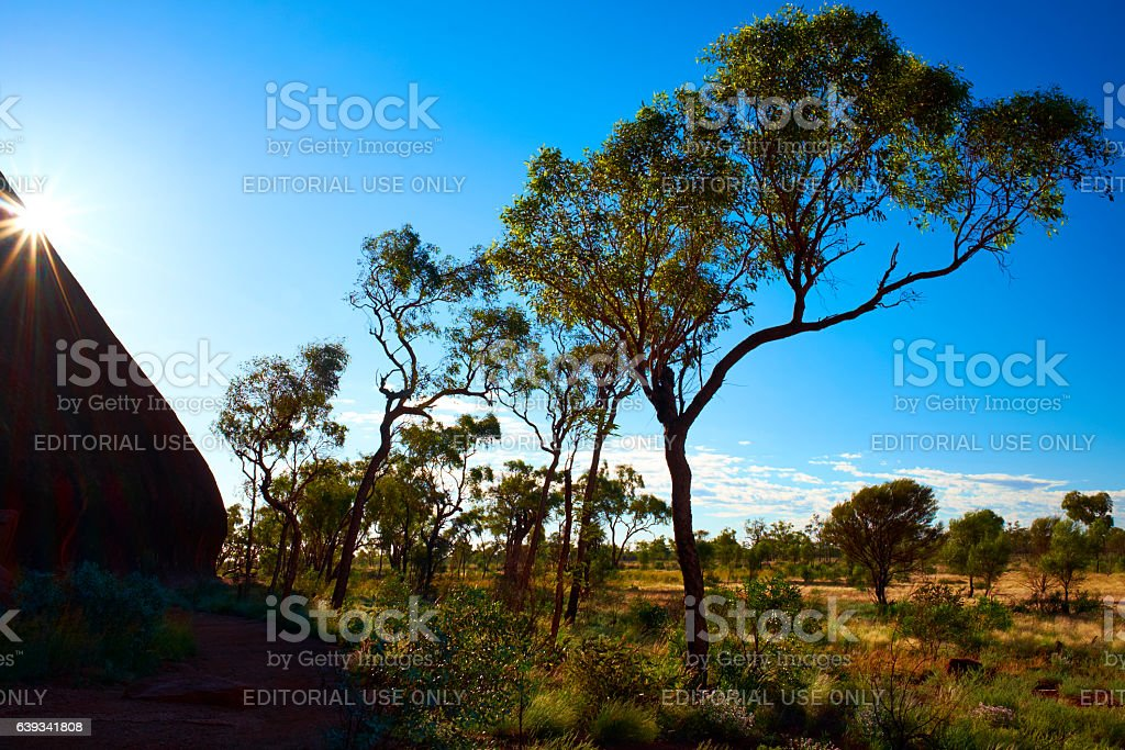 Sunrise Over Uluru stock photo