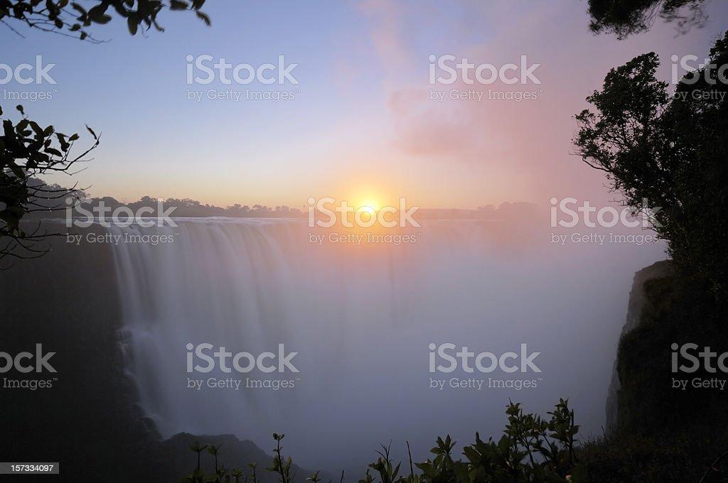 Sunrise over Victoria Falls royalty-free stock photo