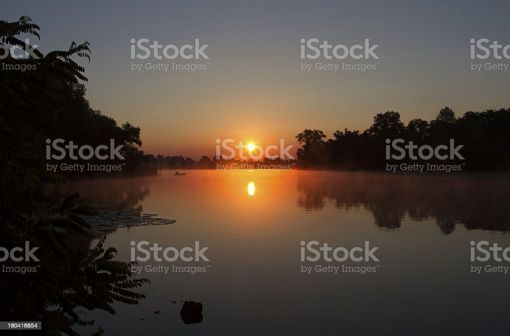 sunrise over water royalty-free stock photo