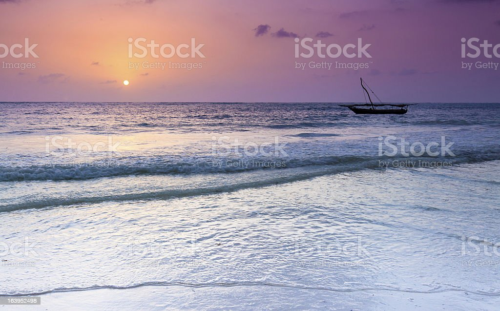Sunrise over Zanzibar royalty-free stock photo