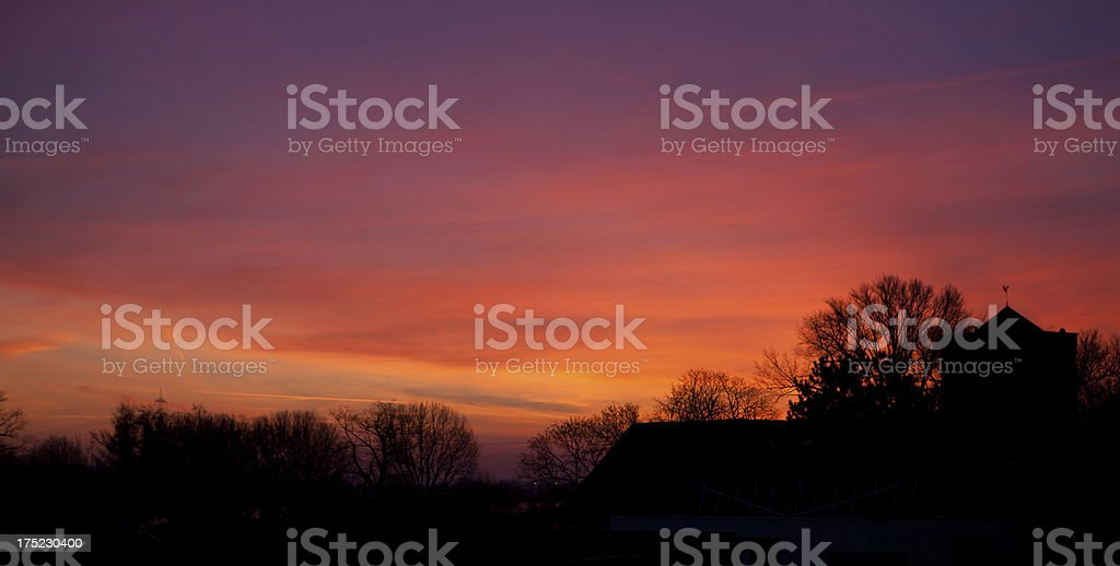 sunrise over Zons royalty-free stock photo