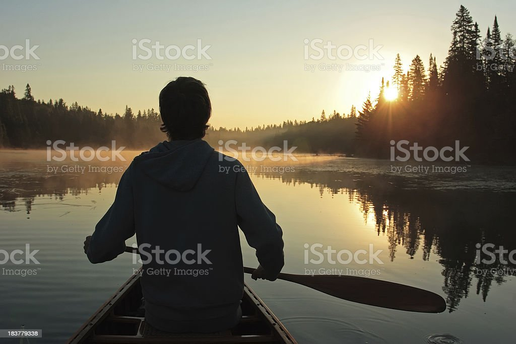 Sunrise Paddle stock photo