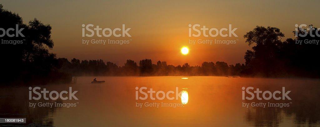 sunrise panorama royalty-free stock photo