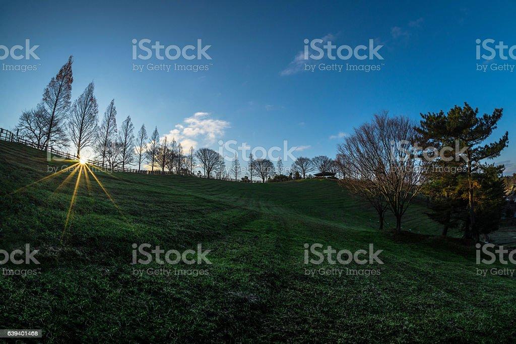sunrise park stock photo