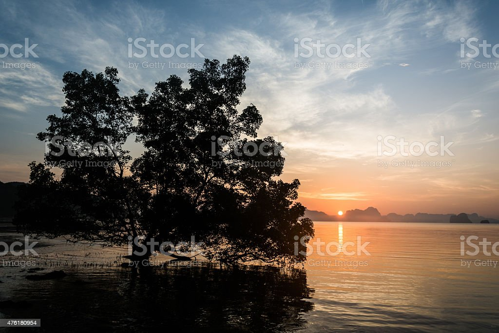 Sunrise Phang Nga Nationalpark royalty-free stock photo