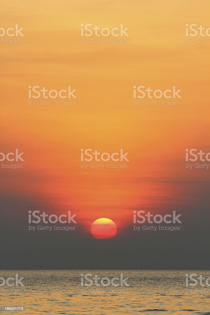 sunrise philipine stock photo