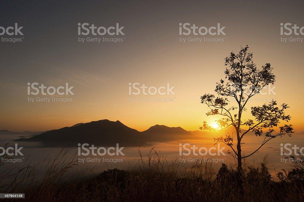 Wschód słońca zbiór zdjęć royalty-free