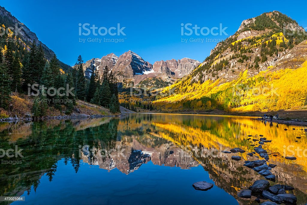 Sunrise Reflection stock photo