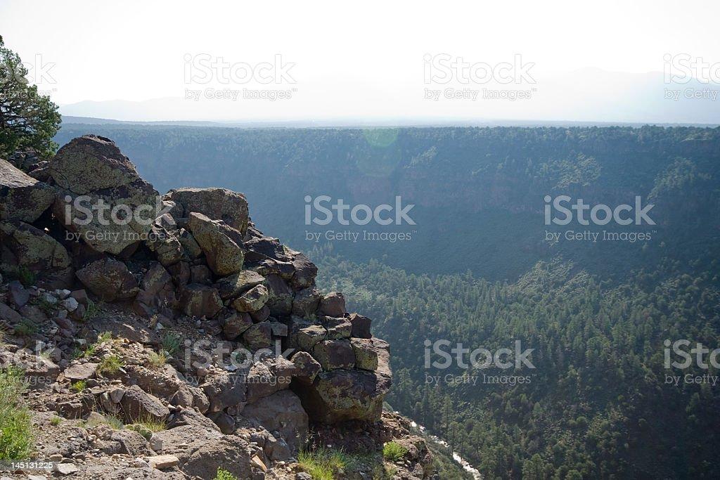 Sunrise Rio Grande River Gorge, North Central New Mexico royalty-free stock photo