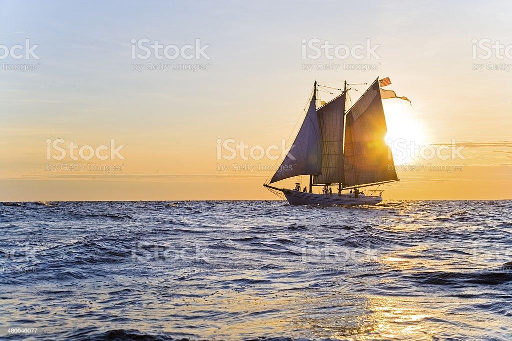 Sunrise Sailing stock photo
