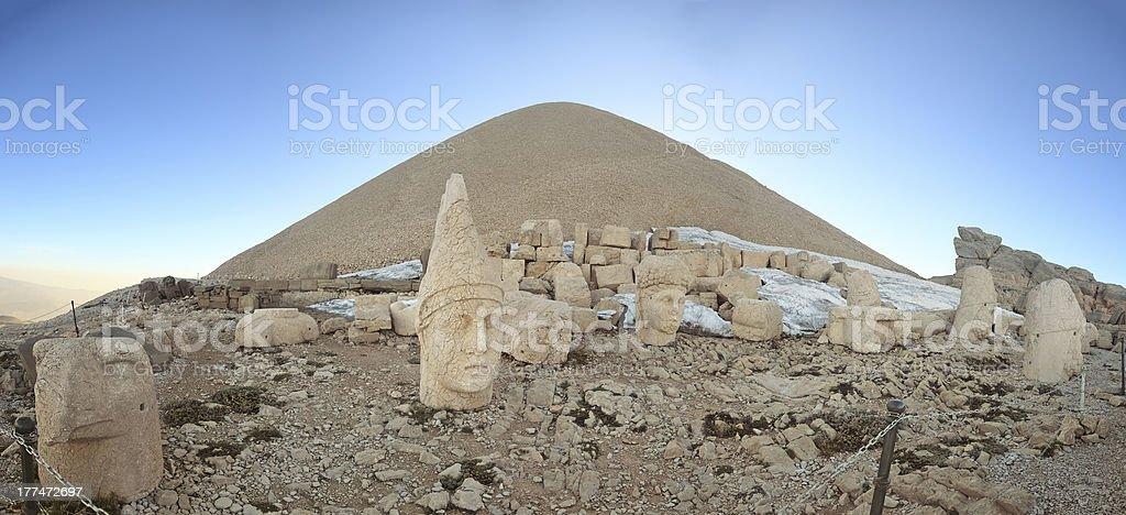 Sunrise; Sculptures of the Commagene Kingdom, Nemrut Dagi royalty-free stock photo