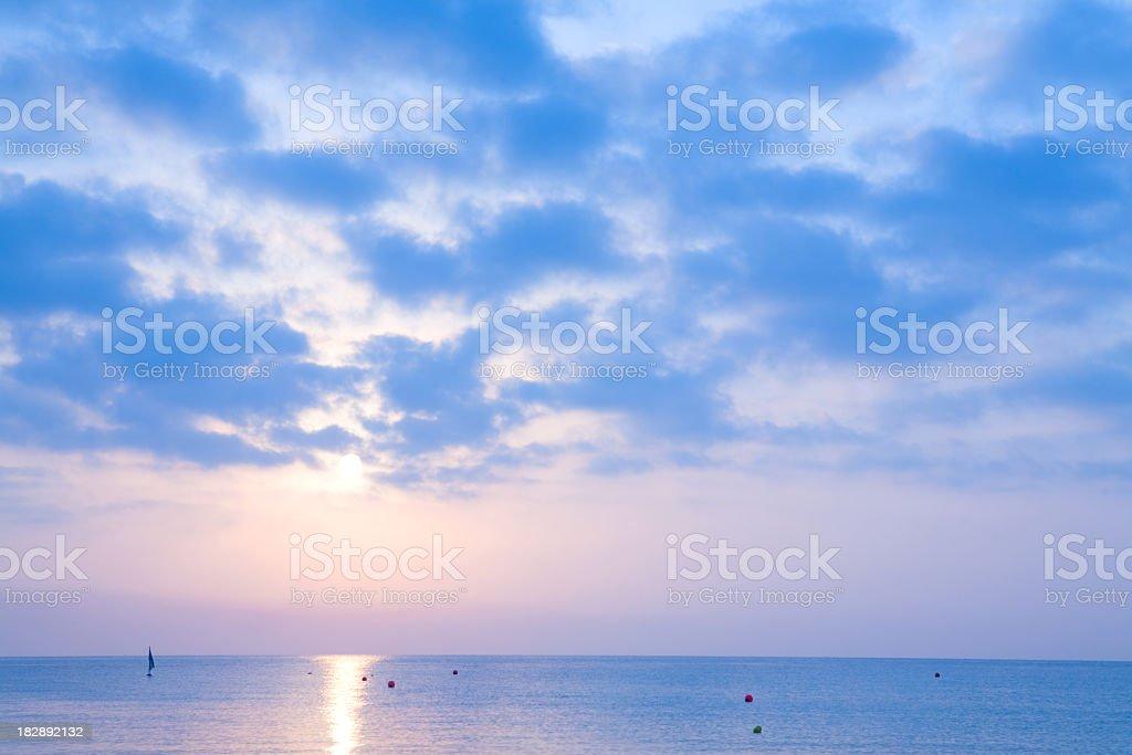Sunrise sea sky royalty-free stock photo