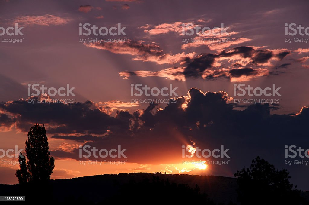Sunrise sky stock photo