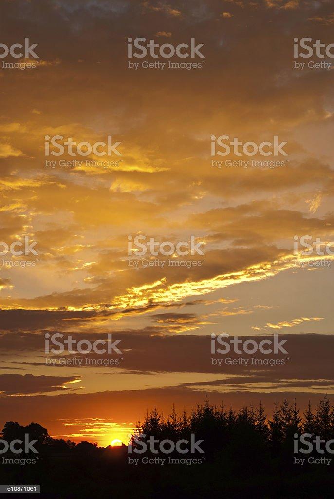 Sunrise cielo foto de stock libre de derechos