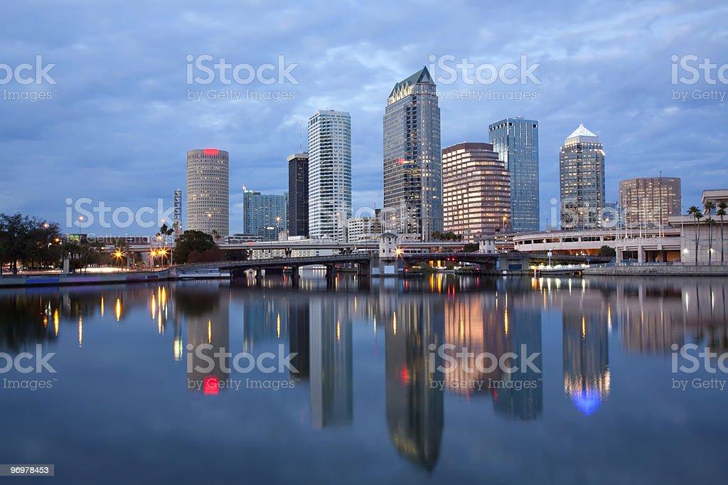 Sunrise Sunset  Downtown Tampa, Florida stock photo
