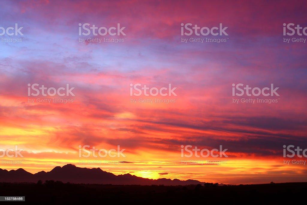 sunrise sunset royalty-free stock photo