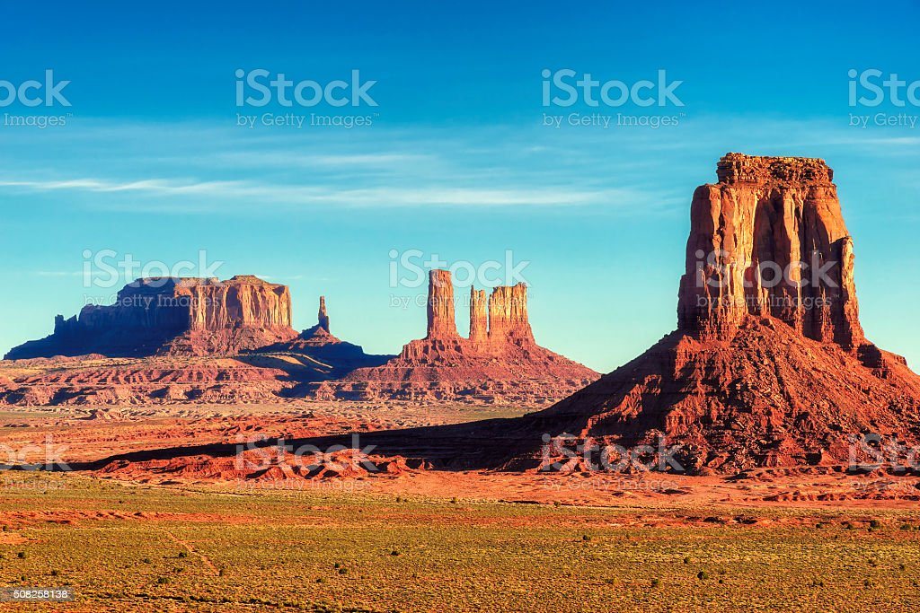 Sunrise view at Monument Valley, Arizona, USA stock photo