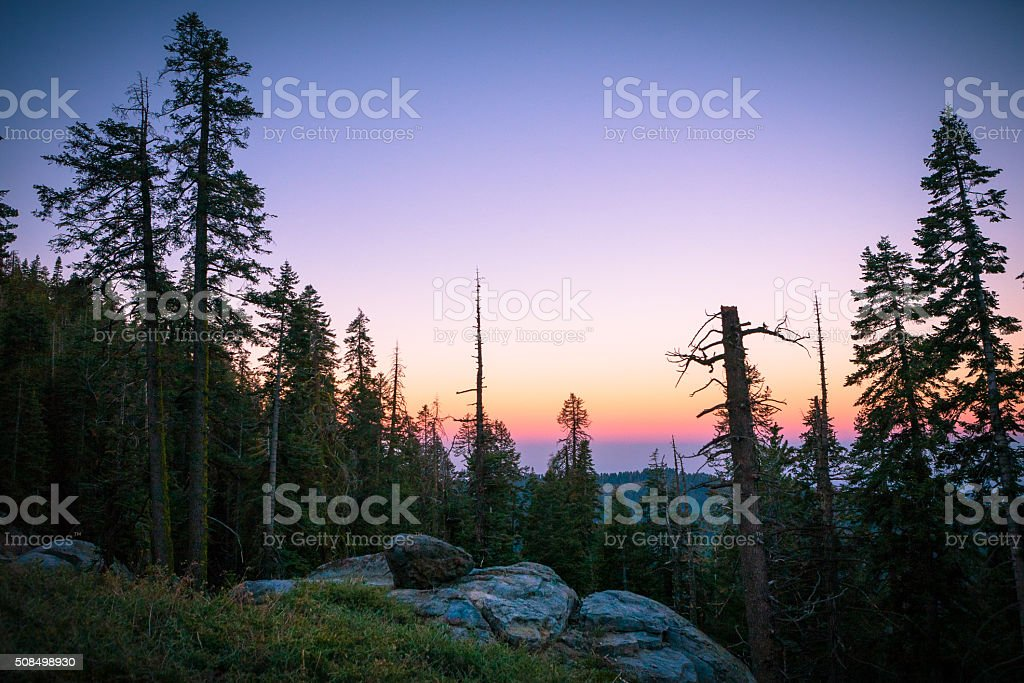 Sunrise View In Kings Canyon National Park royalty-free stock photo