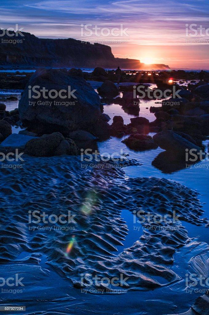 Sunrise with flare stock photo