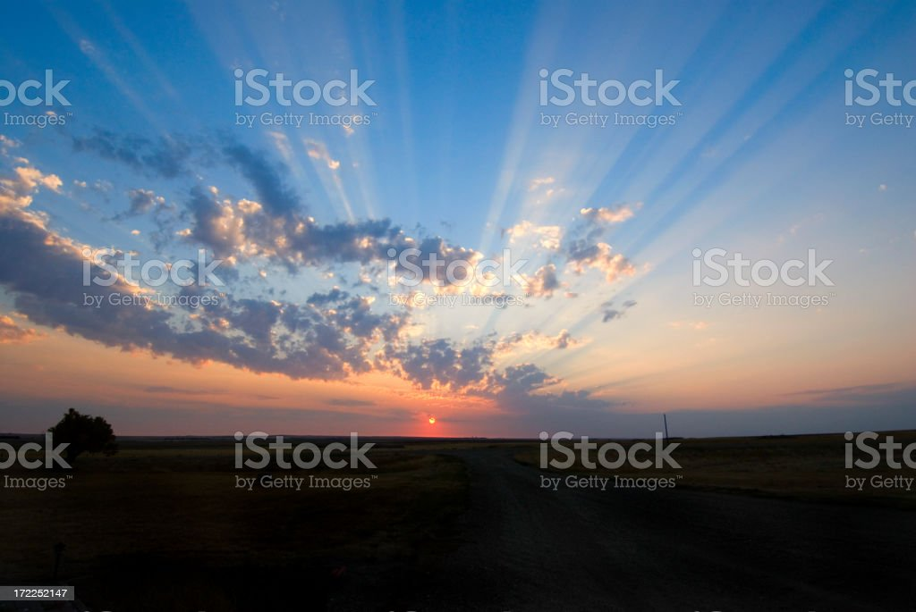 Sunrise with Godbeams royalty-free stock photo