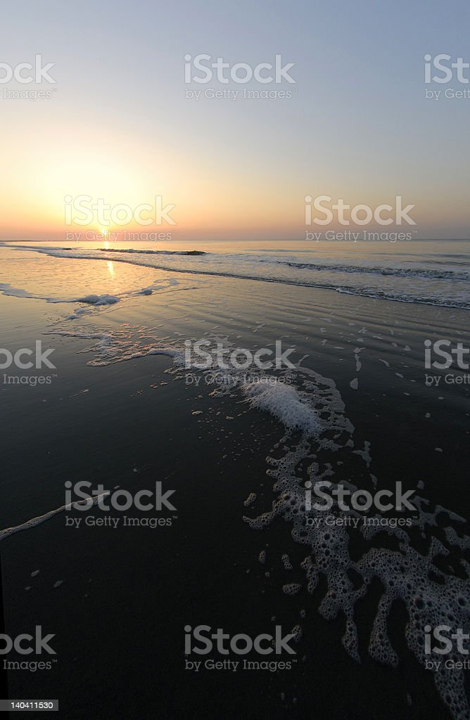 Sunrise with Seafoam royalty-free stock photo