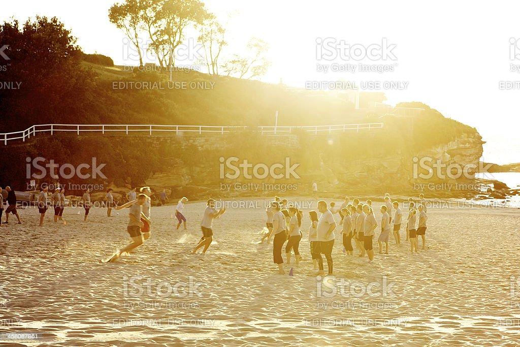 Sunrise Workout royalty-free stock photo