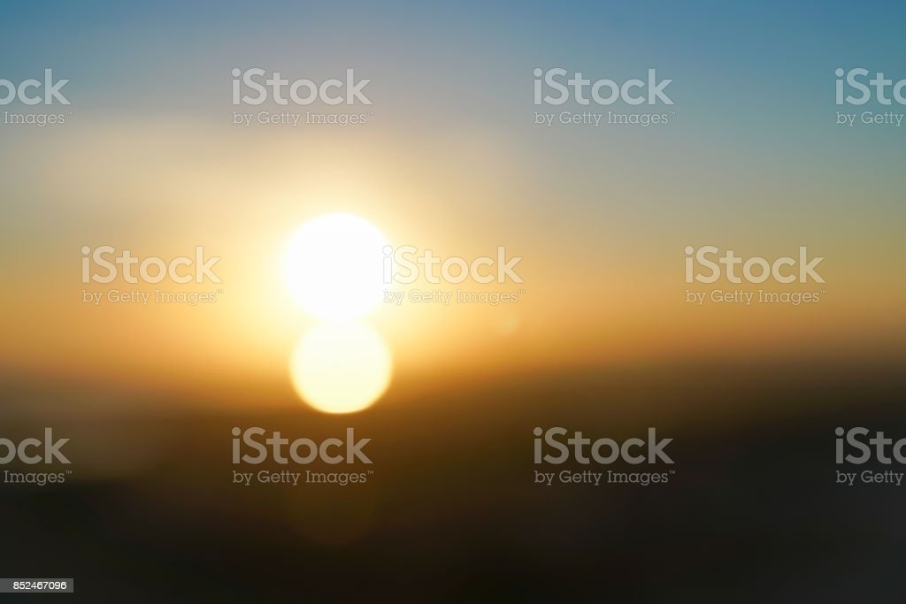 Sunrises over Auckland from top Mount Eden stock photo