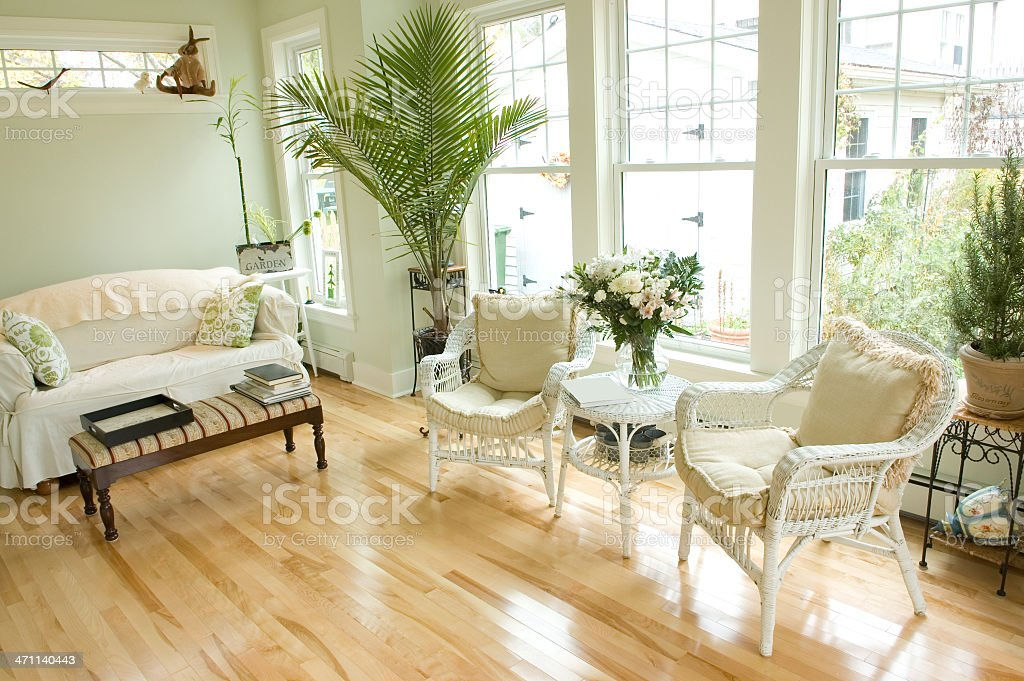 Sunroom Interior royalty-free stock photo