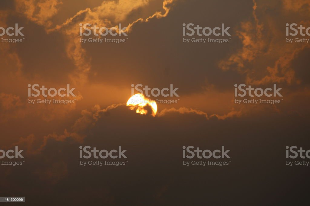 Sun's Game of Hide and Seek royalty-free stock photo
