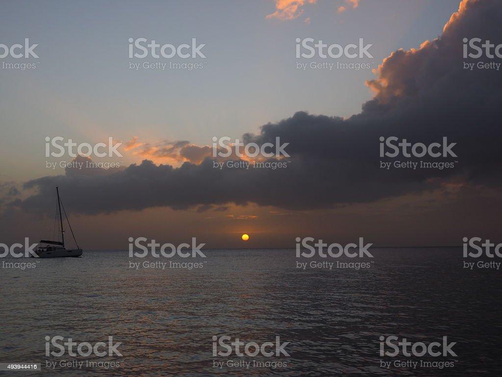 6 au coucher du soleil photo libre de droits