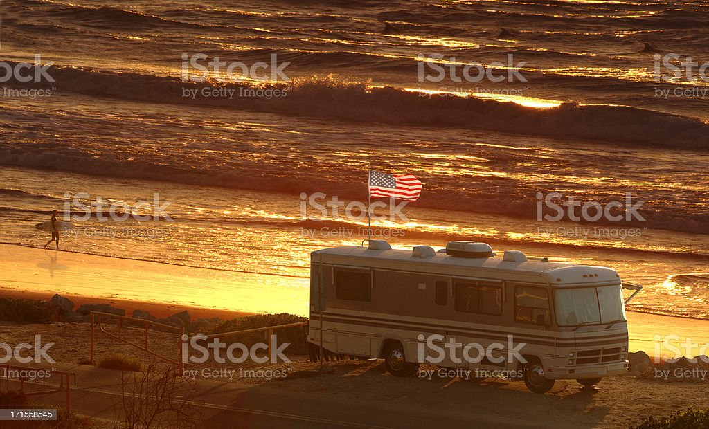 RV Sunset 2 royalty-free stock photo