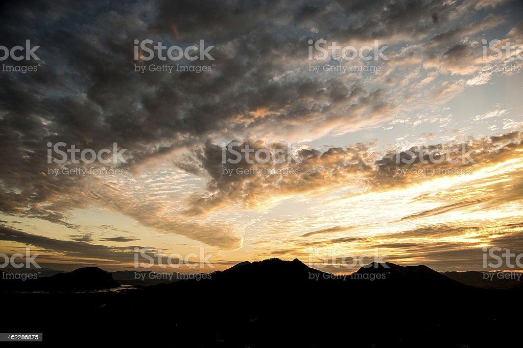 Zachód słońca 3 zbiór zdjęć royalty-free