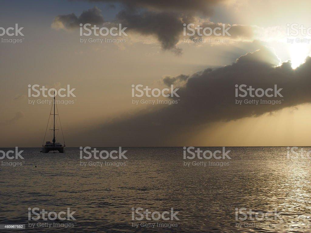 Coucher du soleil de 44 photo libre de droits