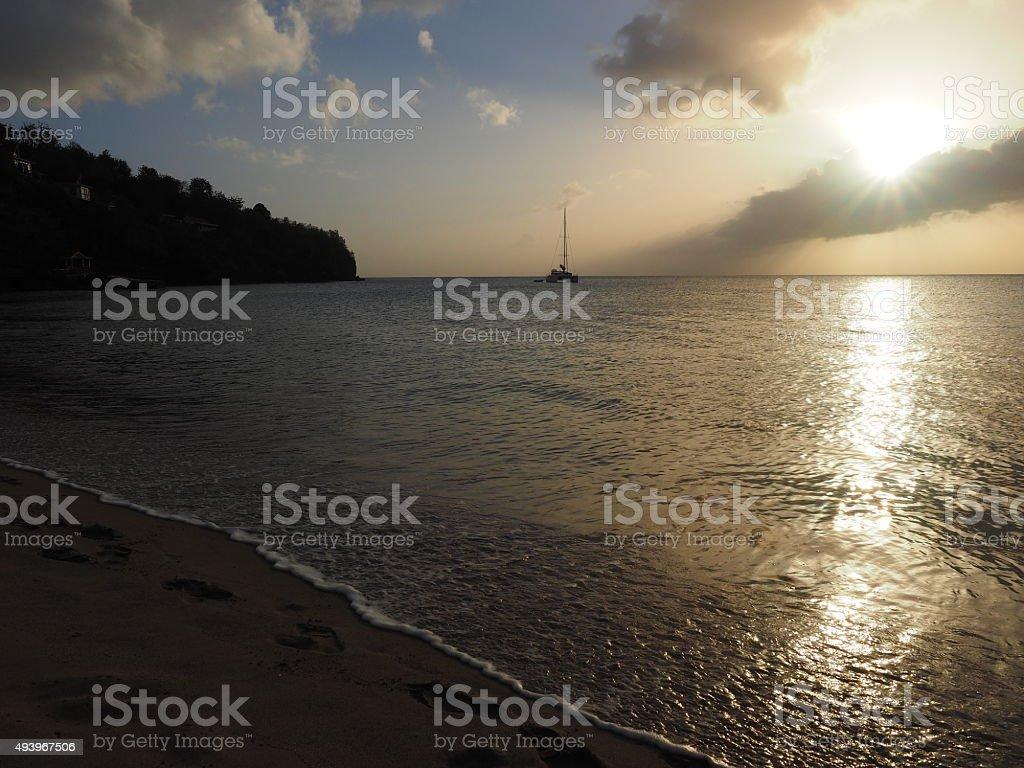 Coucher du soleil de 48 photo libre de droits