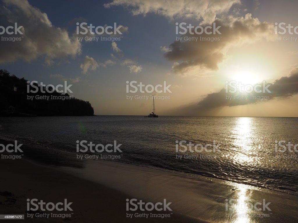 51 au coucher du soleil photo libre de droits
